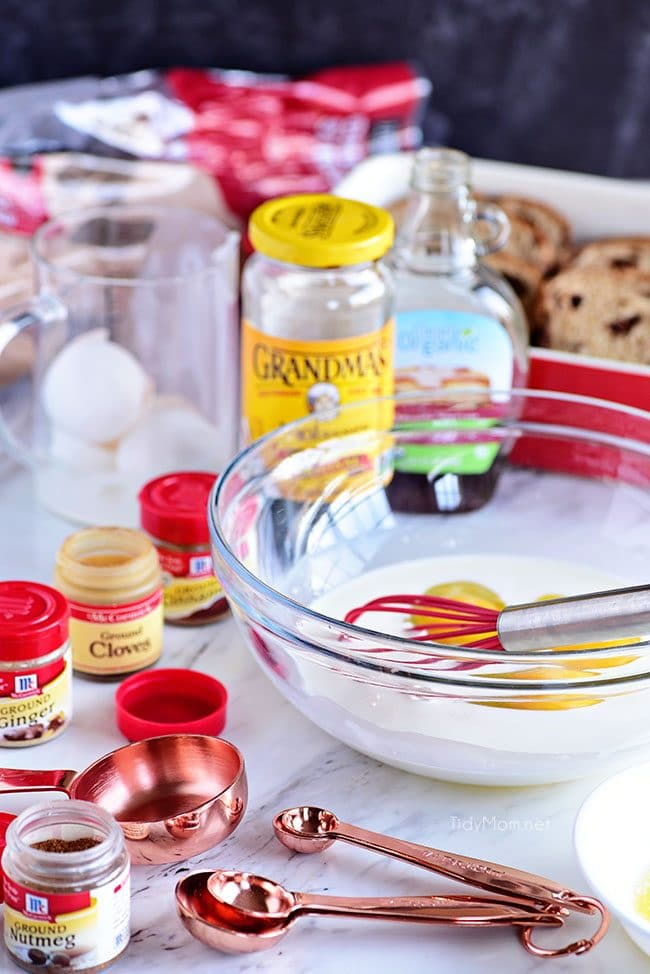 Gingerbread French Toast ingredients