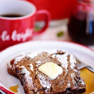 Gingerbread French Toast with syrup