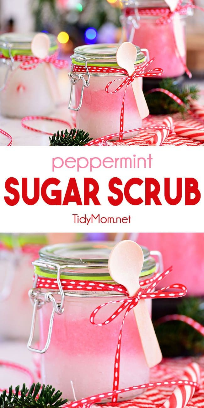 Peppermint Sugar Scrub photo collage