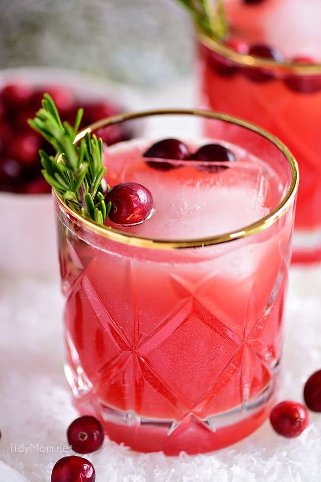 glass of RUDOLPH'S TIPSY SPRITZER cocktail