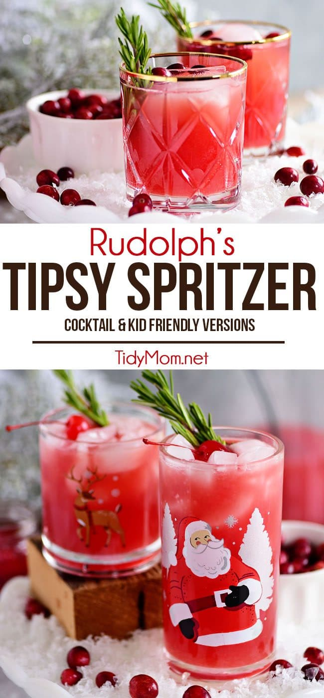 RUDOLPH'S TIPSY SPRITZER photo collage