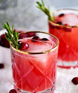 close up of RUDOLPH'S TIPSY SPRITZER
