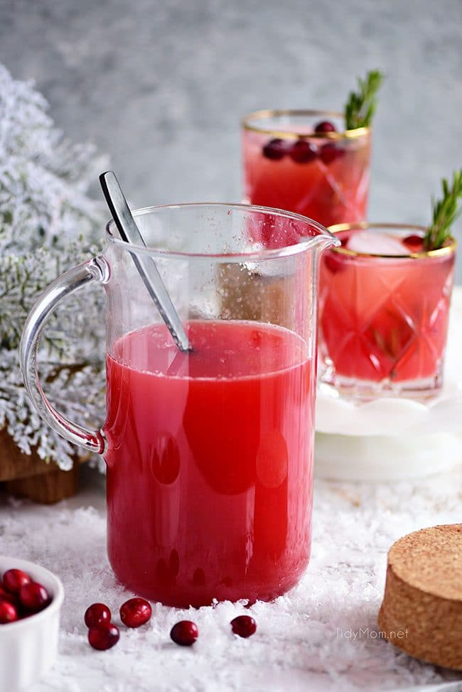 pitcher of RUDOLPH'S TIPSY SPRITZER puch