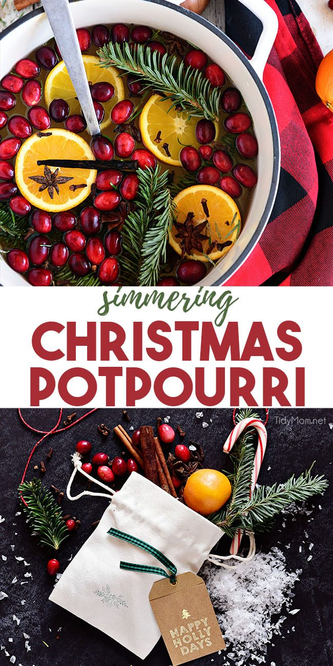 Simmering Christmas Potpourri photo collage