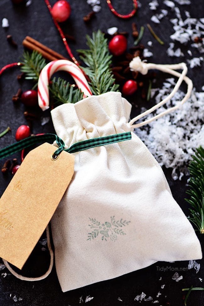 a gift bag of Simmering Christmas Potpourri