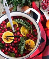 flat lay Simmering Christmas Potpourri