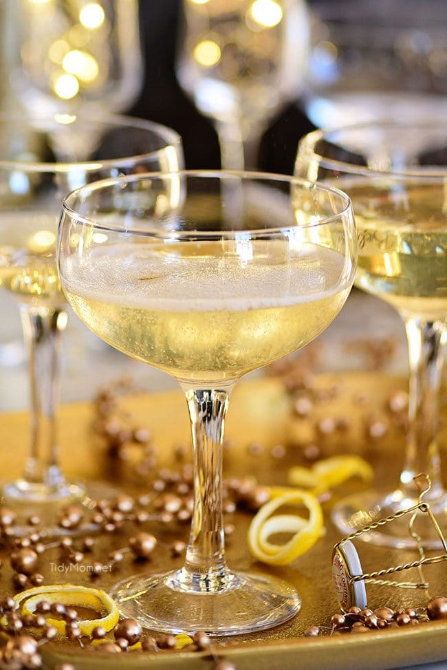 Downton Abbey Twinkle champagne cocktail with Elderflower Cordial