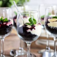 Chocolate Cherry Cheesecake Parfaits