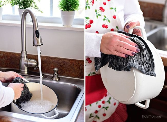 use dishcloth for washing dishes