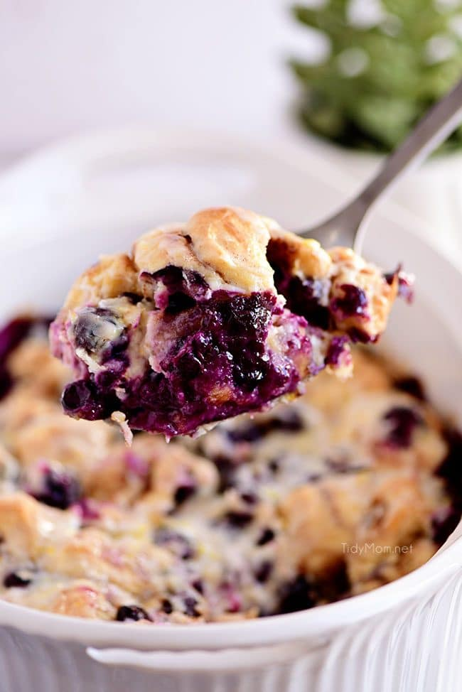 spoonful of Blueberry Breakfast Casserole