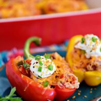 Kickin' Chicken Stuffed Peppers