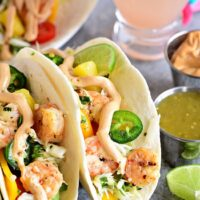 Baja Shrimp Tacos with Pineapple Lime Slaw