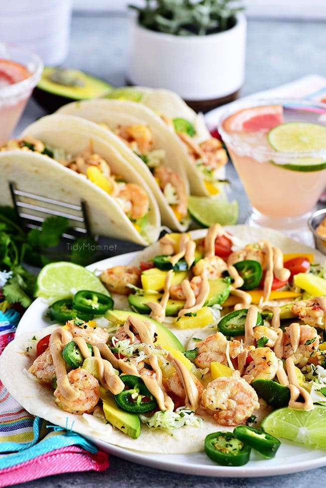 plate of Baja Shrimp Tacos