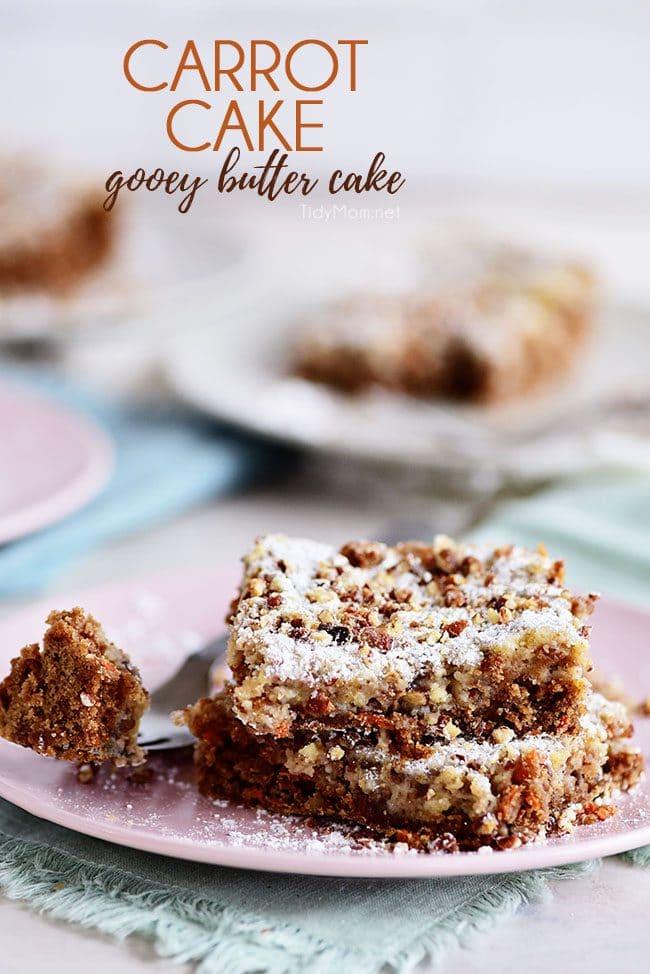 Carrot Cake Gooey Butter Cake