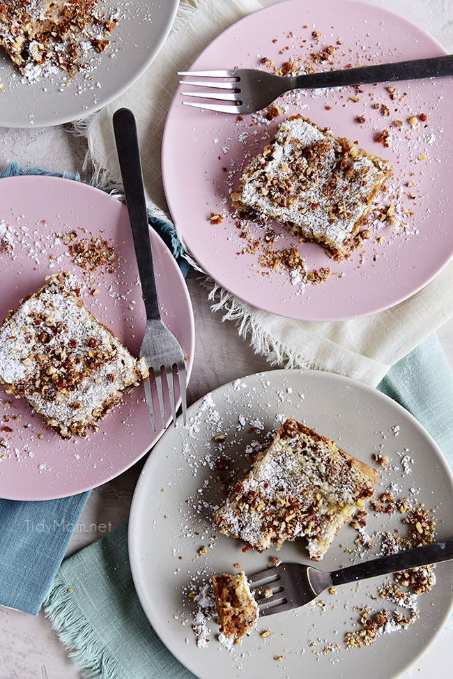 Carrot Cake Gooey Butter Cake on plates