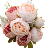 Vintage Artificial Peony Silk Flowers