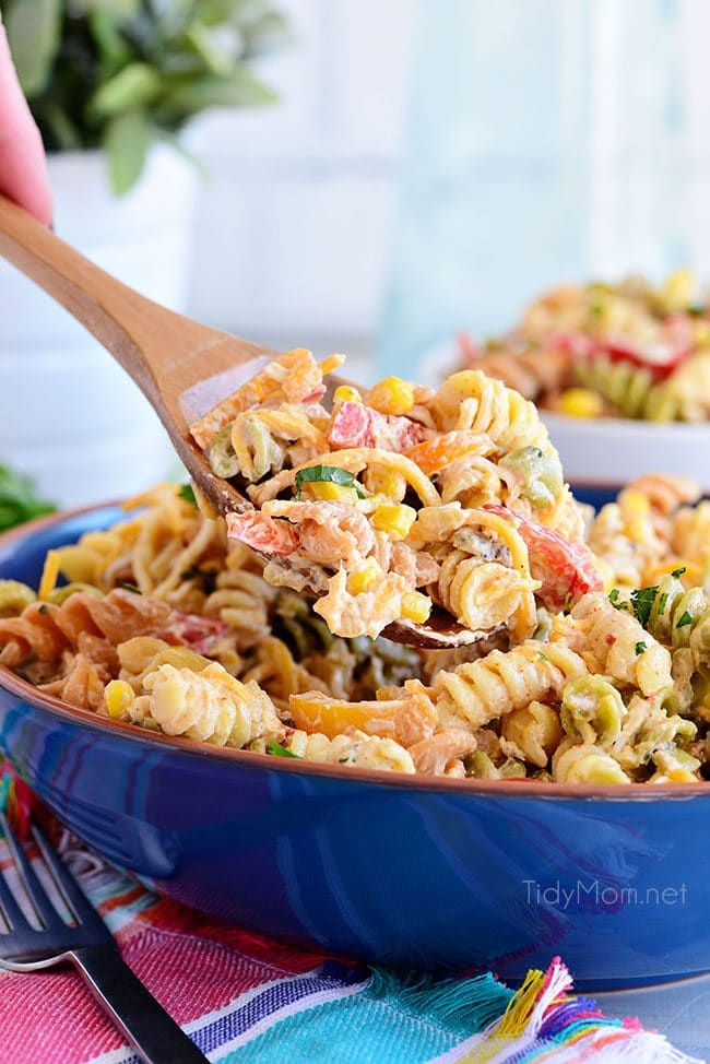 Easy Taco Pasta Salad make a great side dish