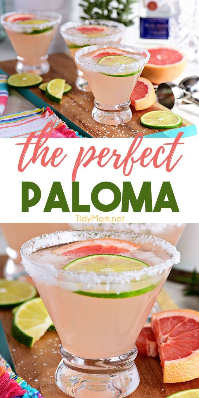 Perfect Paloma Cocktail photo collage