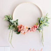 How to Make a Floral Hoop Wreath Tutorial