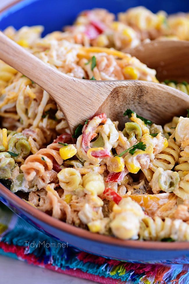 Easy Taco Pasta Salad is a family favorite