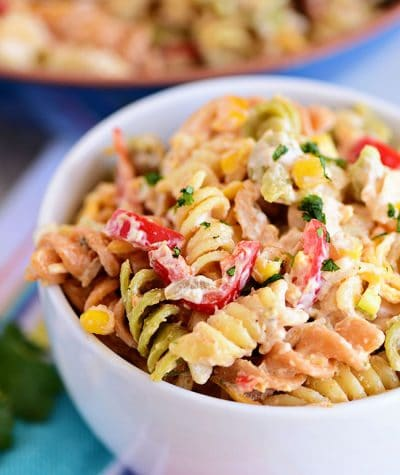 serving of Taco Pasta Salad