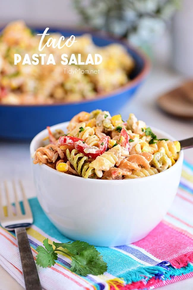 Easy Taco Pasta Salad the perfect summer side dish