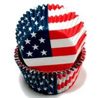 American Flag Cupcake Liners