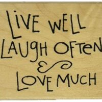 ''Live Laugh Love'' Motivational Wood Stamp