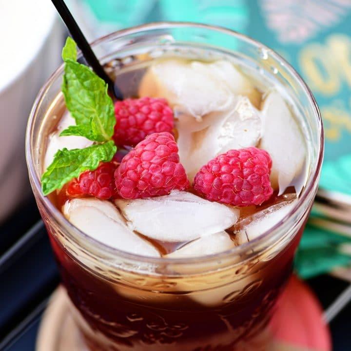 Raspberry Hard Iced Tea Cocktail