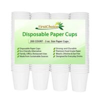 Disposable White Paper Cups - 3oz