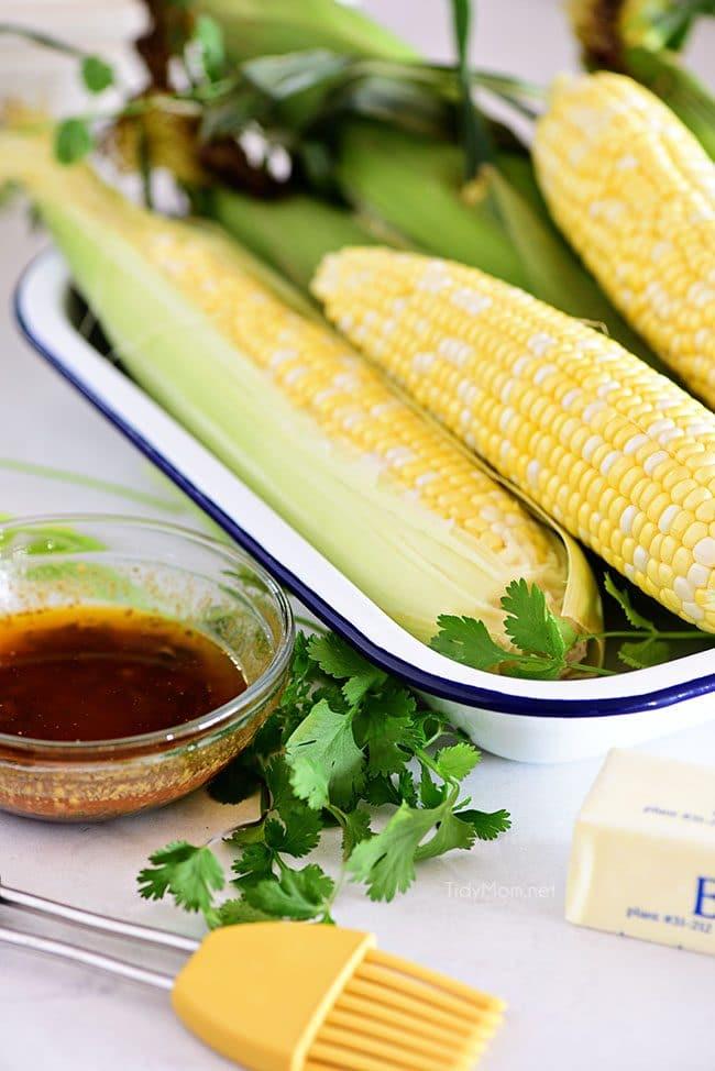 sweet summer corn on the cob