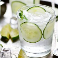 Sparkling Cucumber Gimlet