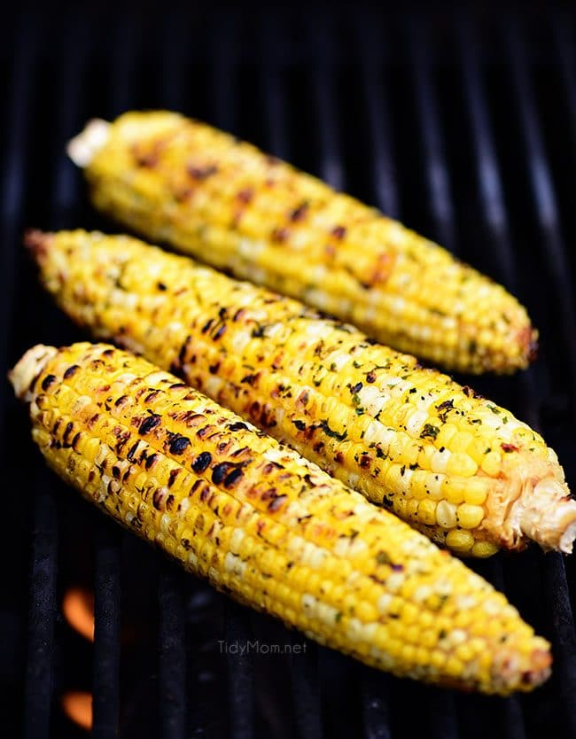 Chili Lime Corn On The Cob on the grill