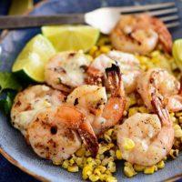 Zesty Lime Grilled Shrimp Bowl with Roasted Corn
