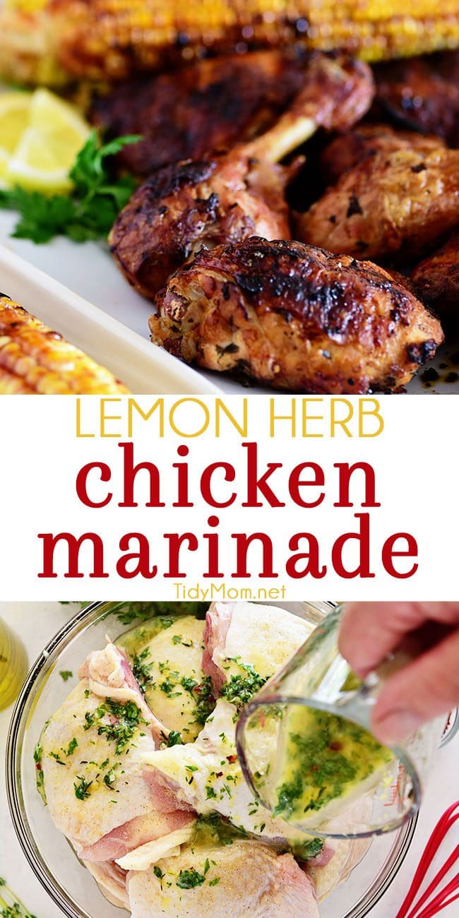 easy lemon herb chicken marinade for and grilled chicken