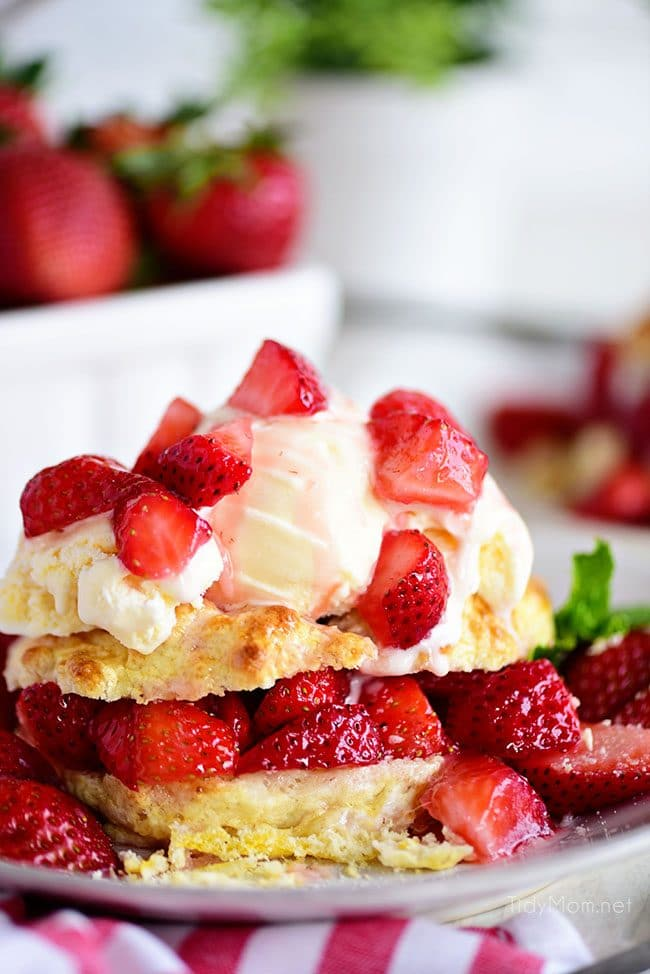Strawberry Shortcake with ice cream
