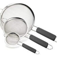 Stainless Steel Fine Mesh Strainers, Set of 3