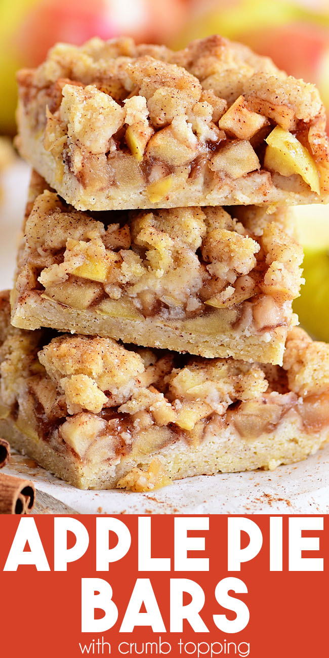 stack of 3 apple pie bars