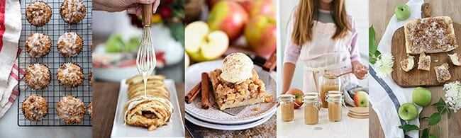 fall apple recipes collage 1