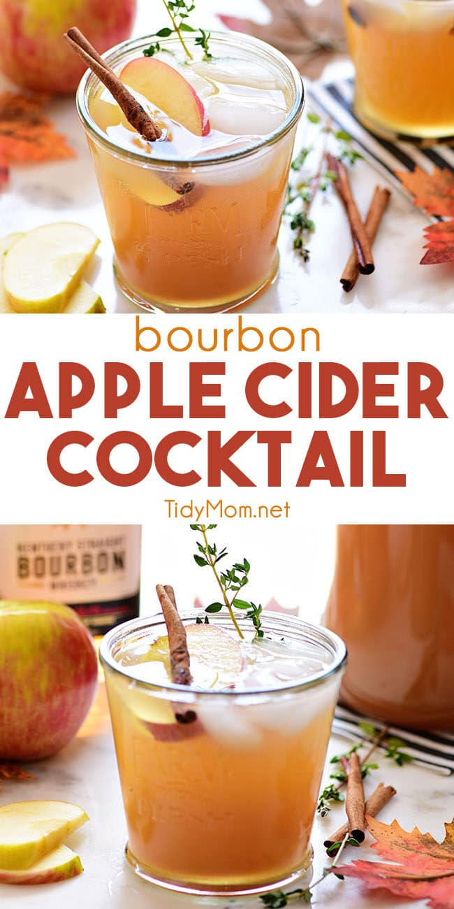 apple cider cocktail collage