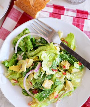 restaurant style Italian House Salad