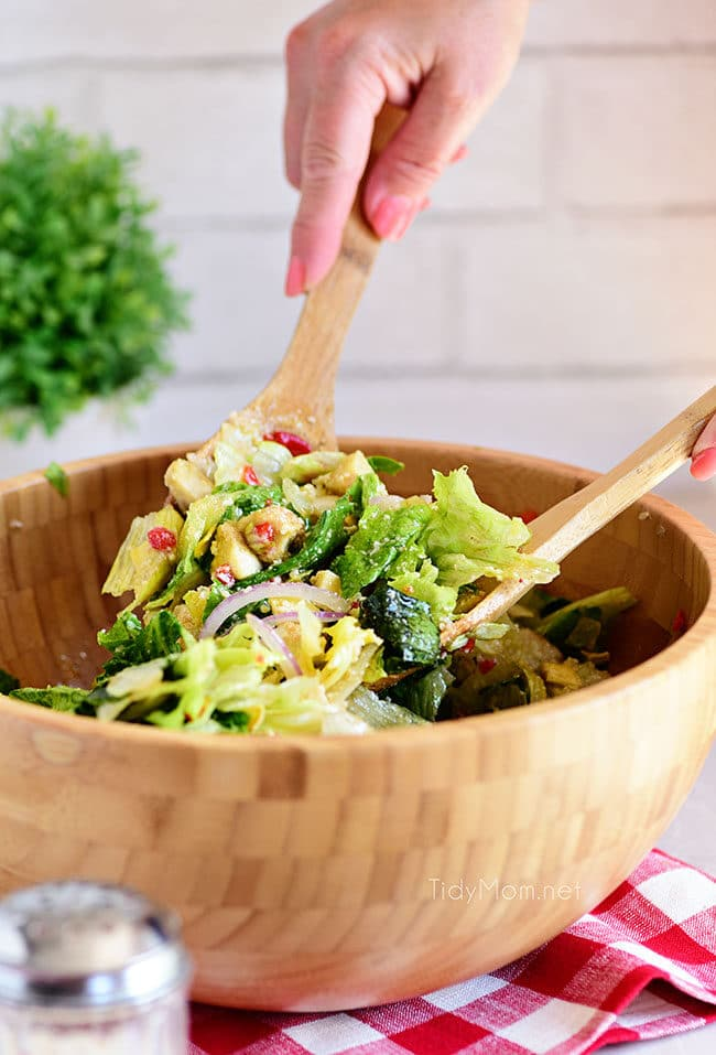 simple restaurant style Italian Salad in a bowl