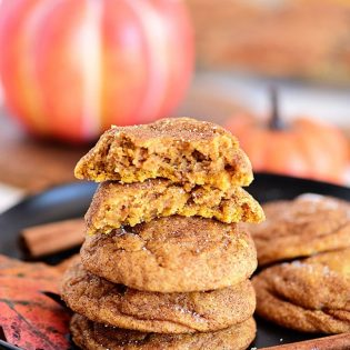 Pumpkin Snickerdoodles on a fall table