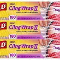 Glad Tangle-Proof Cling Wrap (180 Square Foot Roll - Pack of 3)