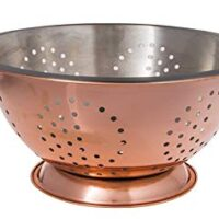 Copper Finish Colander with Stainless Steel Interior