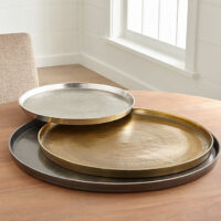 Element Metal Antiqued Brass Tray + Reviews | Crate and Barrel