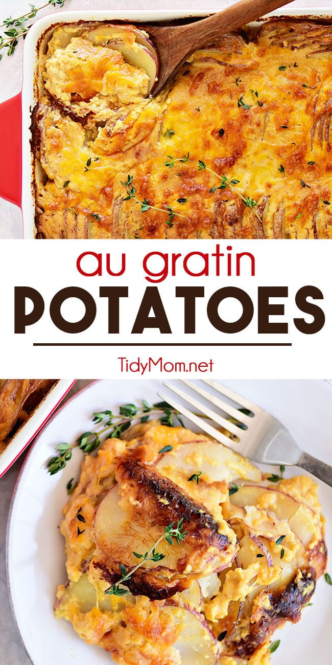 Potatoes au gratin photo collage