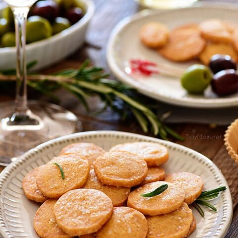 Savory Shortbread Cheese Crisps
