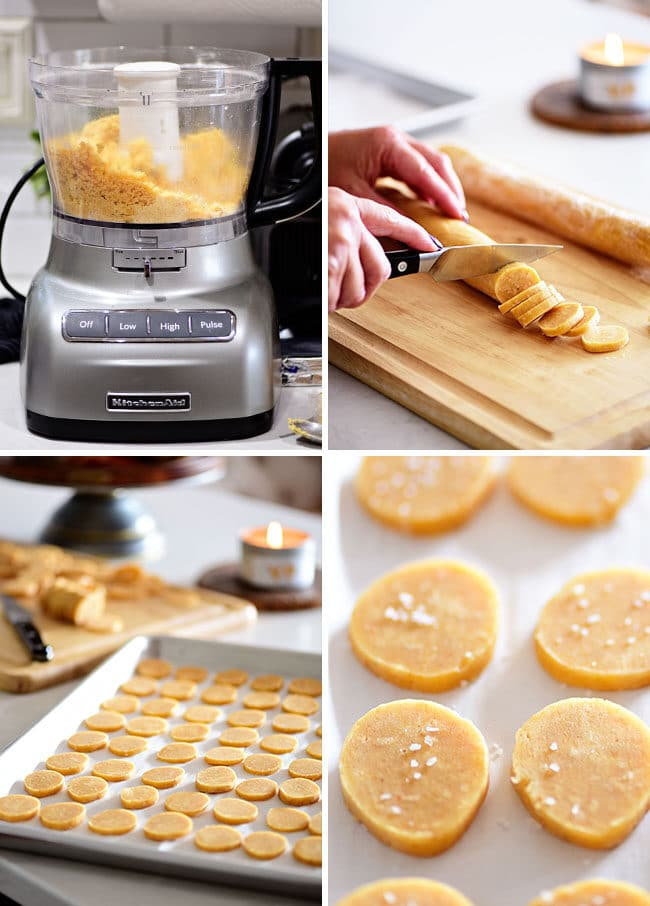 steps for making savory shortbread cheese crisps