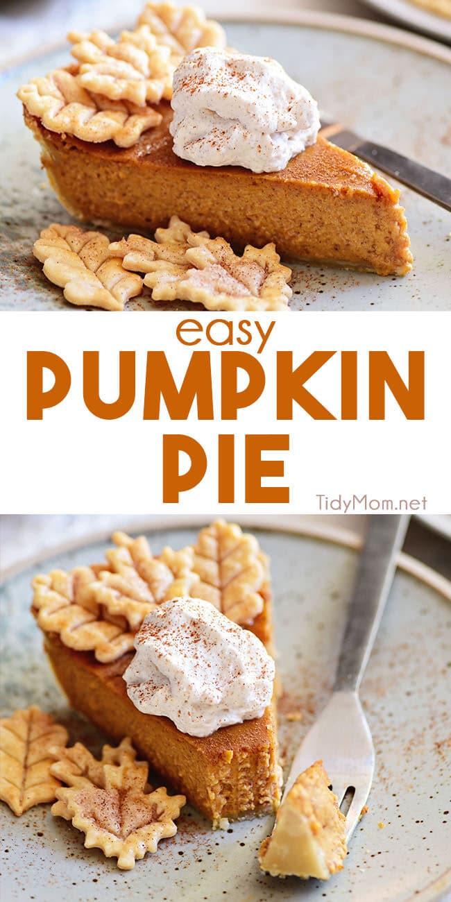 pumpkin pie photo collage